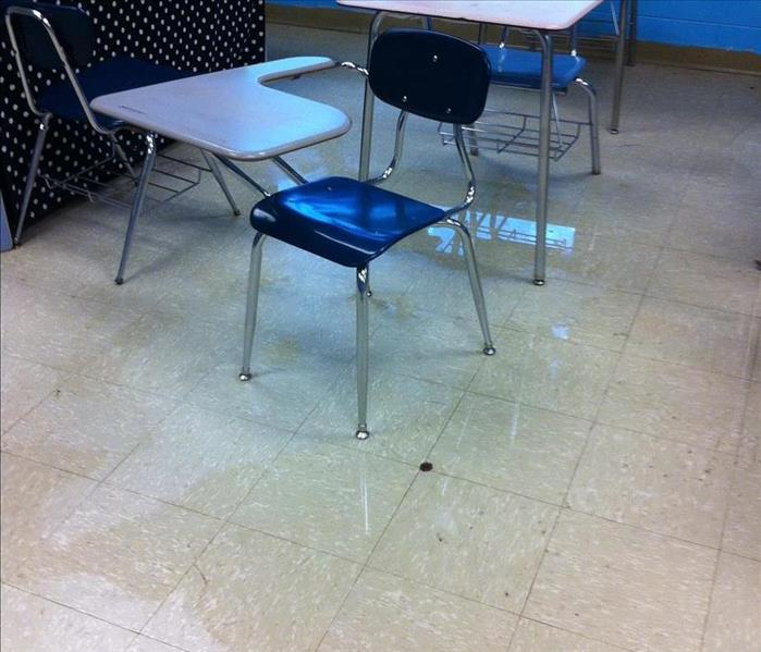 Water Damage to a Local School Before